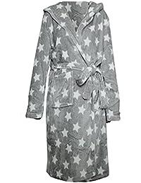 Bademantel Mircrofaser von JEMIDI mit Sternen Morgenmantel Sauna Mantel Reisebademantel Damen Mädchen Sterne oder Herzen -