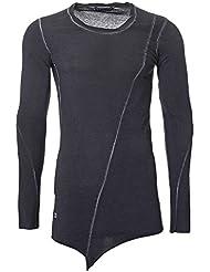 Herren Redbridge Pullover im Longshirt Style mit Schräg-Cut am Bund Swagshirt