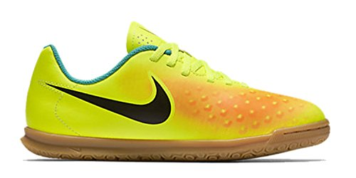 Nike Jr Magistax Ola II IC, Chaussures de Football Mixte Adulte Amarillo (volt/black-total orange-clear jade)