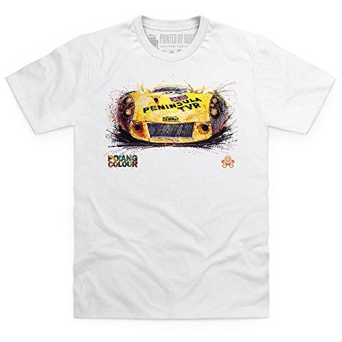 Popbang Peninsula Car T-Shirt, Herren Wei