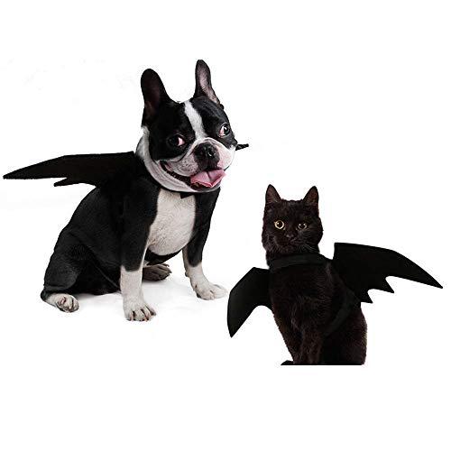 (Rong Haustierkostüm, Tierkostüm, für Hunde und Katzen, Vampir, Halloween-Kostüm, Flügel)
