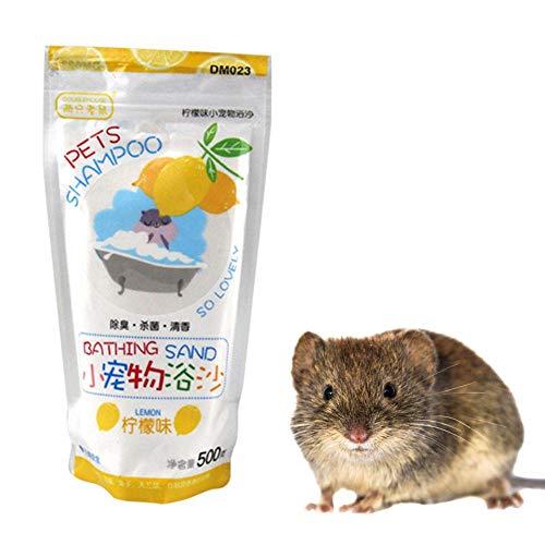 Hamster Baden Sand 500G Deodorant Bad Sand Serialization Reinigungsmittel für Degus Gerbil Chinchilla Igel Meerschweinchen Trainingsset -