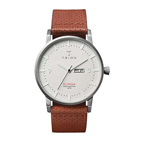 Triwa Dawn Klinga Classic Watch Brown Dotted Leather Strap KLST101-CD010212