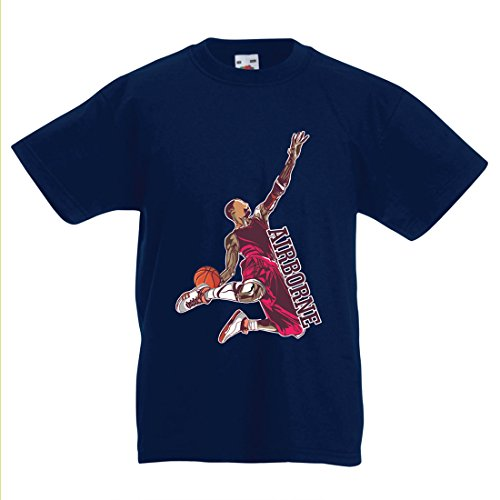 lepni.me Kinder T-Shirt Sei der Herr der Schwerkraft, Basketball Freestyle Dunk - Ich Liebe Dieses Spiel (9-11 Years Dunkelblau - Halloween Lebron James