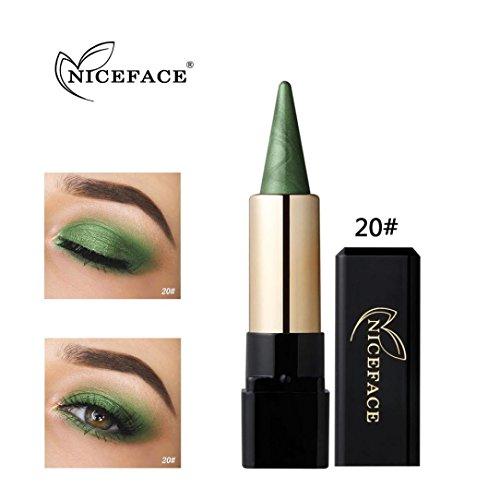 Fards à paupières, Sansee Beauté Eyeliner imperméable à l'eau Crème Eye Liner Pen Crayon Eye Shadow Gel Maquillage (#20)