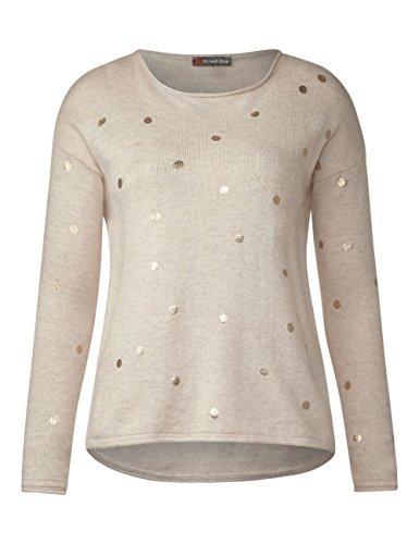Street One Damen Pullover Beige (Creamy White Melange 21158)