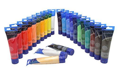 Magi Feine ACRYLFARBE 24 Tuben je 60 ml, original Farben, MEGA-FARBSET Acrylfarben