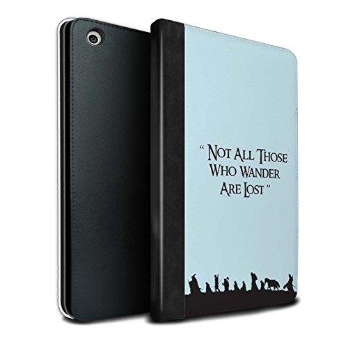Stuff4® PU-Leder Hülle/Case/Brieftasche für Apple iPad Mini 1/2/3 Tablet/Gemeinschaft Muster/LOTR Fantasie Inspiriert Kollektion Fantasia-kollektion