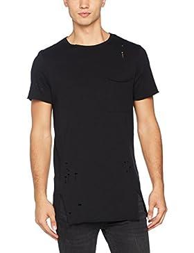 New Look Distressed Seamed, Camiseta para Hombre