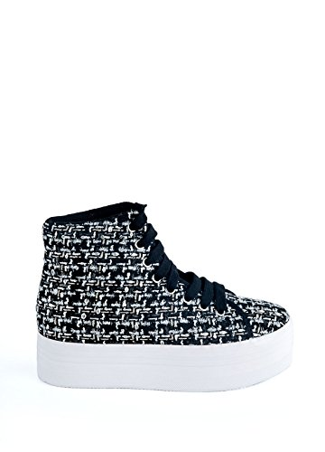 JEFFREY CAMPBELL EPLAY Sneaker HOMG Tweed NeroArgento MULTICOLORMULTICOLOR