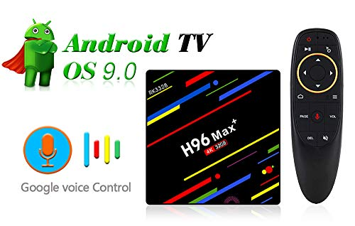 Aubess Android TV Box 9.0.2019 H96 MAX Plus GB RAM + 32GB ROM + Quad-Core + Voice Ctroller 4K Full HD WiFi Smart TV Box Set