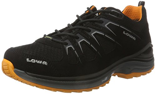 Lowa Herren Innox Evo GTX Lo Wanderstiefel, Schwarz/orange, 44 EU