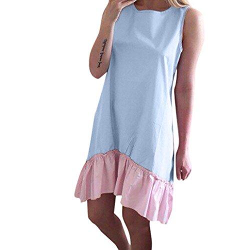 n ärmellose Suffle Mini Neck Collar Beach Casual Dress (Nähen Sie Ein Kostüm Tragen)