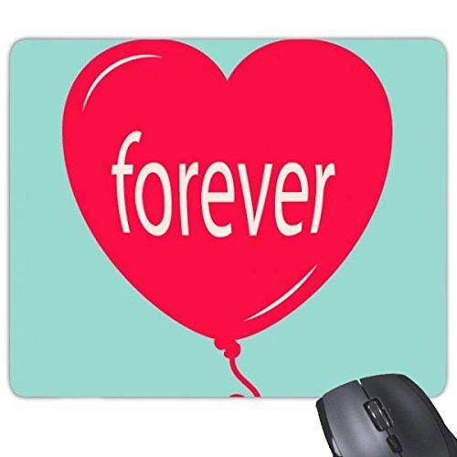 ever Rot Grün Herzform Ballon Illustration Muster, Rechteck Rutschfeste Gummi Mauspad Spiel Maus Pad ()