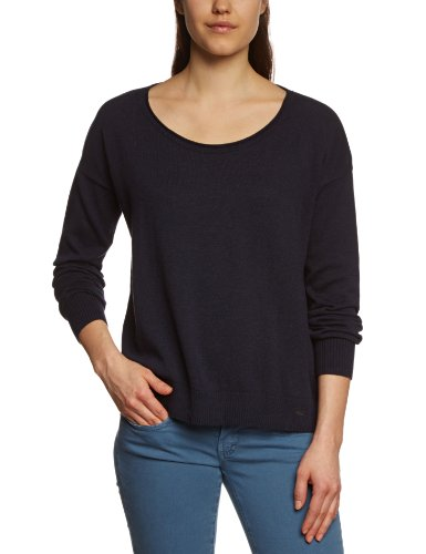 TOM TAILOR Damen Pullover 30165760070/cool cropped sweater, Gr. 42 (XL), Blau (6593 real navi blue) (Cropped Pullover Blau)