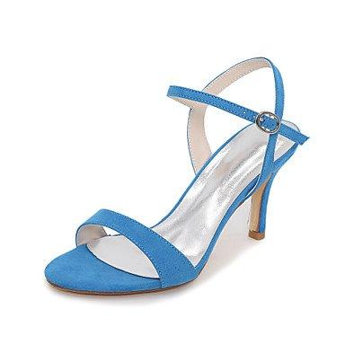 CH&TOU Da donna-Sandali-Ufficio e lavoro / Formale / Casual-Others-A stiletto-Velluto-Nero / Blu / Verde / Rosso / Tessuto almond blue