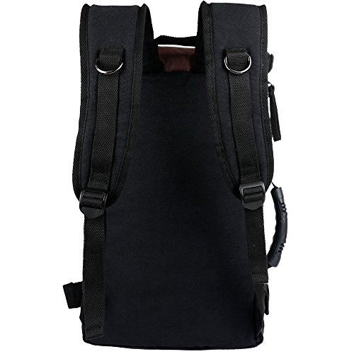 Borsa da viaggio dello zaino della tela di canapa di ibagbar 35L Bag di escursione Sacchetto di zaino da campeggio nero