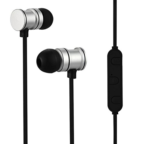 Avrcp Stereo (Xshuai Bluetooth 4,1 Headset Wireless Universal rauschunterdrückung Kopfhörer Stereo Sport Headset Kompatibel mit iPhone / Samsung Galaxy / HUAWEI / HTC / Sony / XiaoMi Smartphone (Silber))