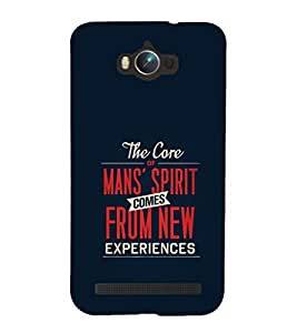 99Sublimation Nice Quote on Man spirit 3D Hard Polycarbonate Back Case Cover for Asus Zenfone Max ZC550KL :: 2016 :: 6A076IN