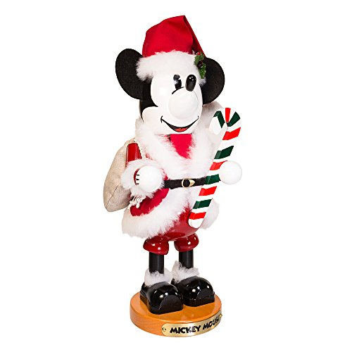 Kostüm Home Disney Made - Steinbach 35,6 cm Mickey Mouse Nussknacker in Santa Claus Outfit