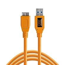 TetherPro USB 3.0-Super-Speed-Micro-B Kabel, ca. 4,6 m, kräftiges Orange