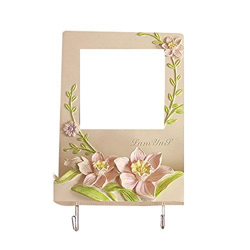 Blumenlichtschalter Aufkleber Abdeckung Schalter Wandplattenabdeckung Hauptdekoration Schlafzimmer Band Aufkleber Elfenbein -