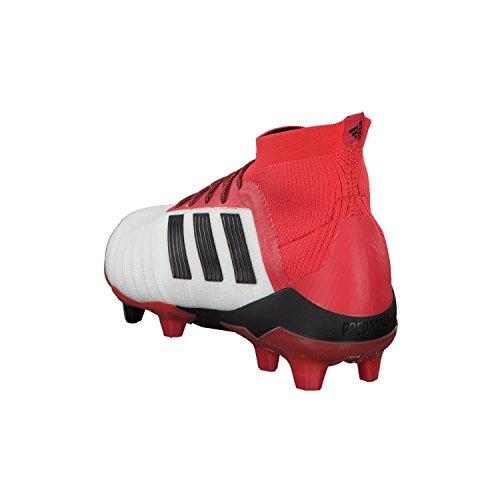 Scarpette Da Calcio Adidas Mens Predator 18.1 Fg Bianche (calzature Bianco / Nucleo Nero / Corallo Reale)