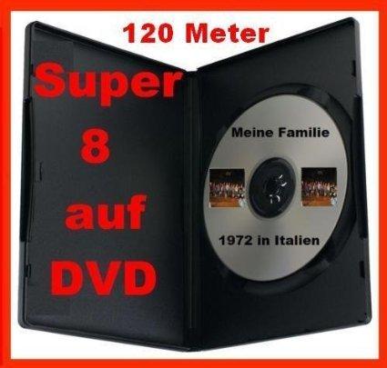 120 Meter SUPER 8 auf DVD Projektor DIGITALISIEREN ÜBERSPIELEN
