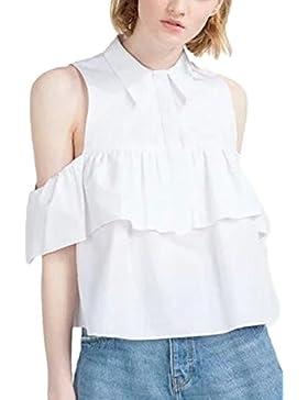 Mujeres Del Verano Caliente De Hombro Con Volantes Sueltos T Shirt Top Tee