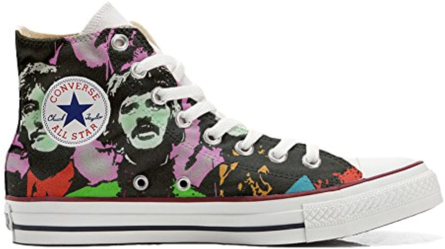 Shoes Custom Converse All Star  personalisierte Schuhe (Handwerk Produkt) Beatles
