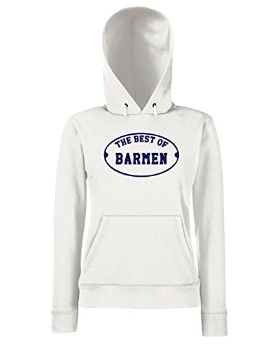 T-Shirtshock - Sweats a capuche Femme BEER0287 The-Best-of-Barmen-Magliette Blanc