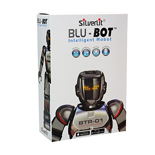 Silverlit - Blu-Bot, Robot telecomandato con Bluetooth e modalità di gioco automatica