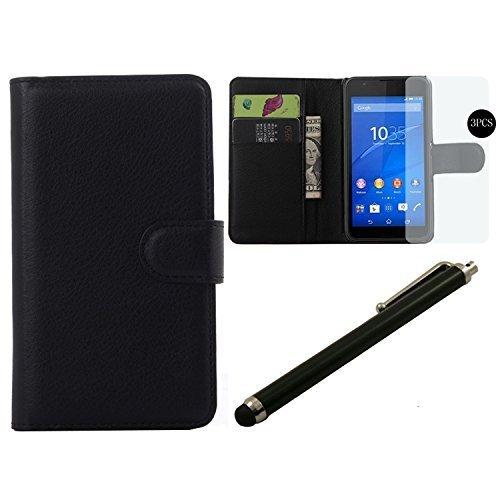 byd-nero-portafoglio-custodia-in-pelle-flip-cover-custodia-per-sony-xperia-e4g-con-3-super-trasparen