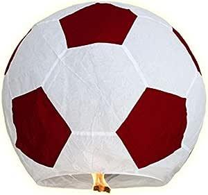 Lanterne volante forme ballon de foot football sport évenement sportif céleste biodégradable soirée sportive