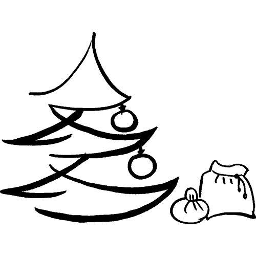 Azeeda A8 'Árbol Navidad Saco' Sello Goma Desmontado
