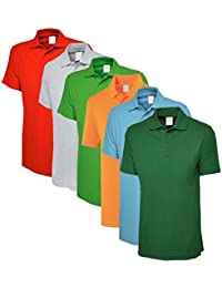 Lime's Multi Color Polo Neck T Shirts For Men ( Pack Of 6 ) - B01MQ0SWYM