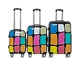 Polycarbonat Hartschale Koffer 2060 Trolley Reisekoffer Reisekofferset Beutycase 3er oder