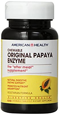 American Health Papaya Enzyme, Original Chewable 100 Tabs