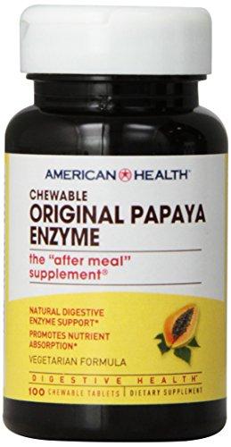 American Health Papaya Enzyme, Original Chewable 100 Tabs by American Health