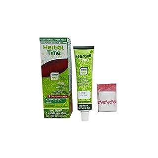 Herbal Time Semi Permanente Haarfarbe Feuerrot N8 Gebrauchsfertig mit Henna und Nesselextrakt Kein Ammoniak Ohne Paraben