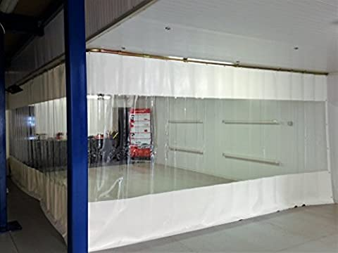WAREHOUSE PVC CURTAIN WALL COVER (650GM/SQ.M) CLEAR PVC WINDOW AND RAIL SYSTEM