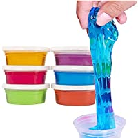 Fete Propz Non Toxic DIY Crystal Clay Soft Slime Magic Mud Kit in Assorted Colours Set Toy Gifts for Girls and Boys Kids…