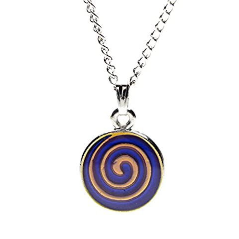 Silver Plated Celtic Mood Swirl Pendant