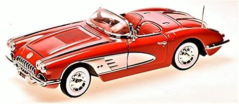 Chevrolet Chevy Corvette C1 Cabrio Rot 1953-1962 1/18 Motormax Modell Auto