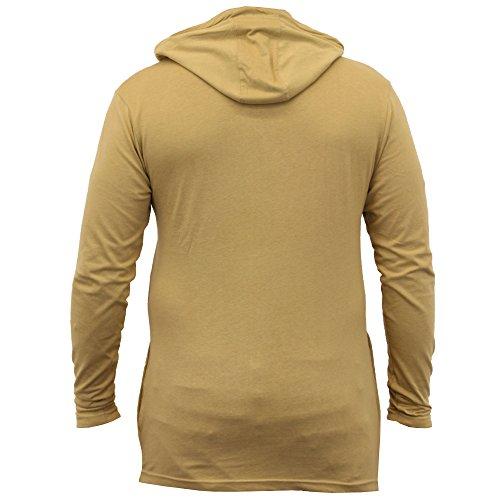 ... Herren Lange Linie Mit Kapuze Jersey Oberteil Soul Star Halbrunder Saum  T-shirt Mode Neu ...