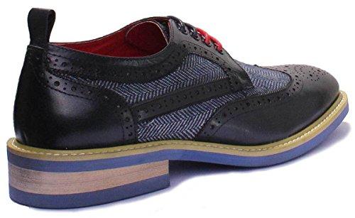 Justin Reece Aiden, Chaussures de ville à lacets pour homme Bleu Marine