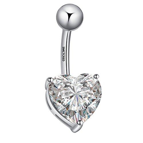 Smctcred piercing belly button piercing ombelico dell'anello del bar body piercing piercing argento argento
