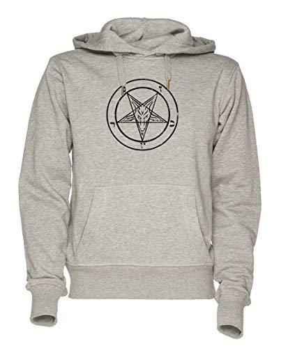 Jergley pentagramma maglietta unisex grigio felpa con cappuccio uomo donna dimensioni xl   unisex sweatshirt hoodie for men and women size xl