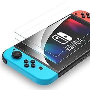 Syncwire Panzerglas kompatibel mit Nintendo Switch – (2 Stück) HD Schutzfolie Panzerglasfolie 9H-Härte Anti-Bläschen Displayschutzfolie für Nintendo Switch, 6.2 Zoll