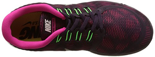 Nike Free 5.0 Print, Chaussures de Sport Femme Violet (Nbl Purple/Summit White/Pink Flash/Voltage)